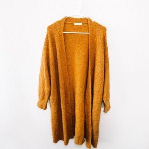 Sweaters - Mustard Yellow Long Duster Cardigan